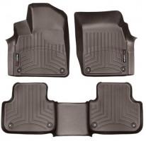 Коврики в салон для Audi Q7 '15- коричневые, резиновые 3D (WeatherTech)