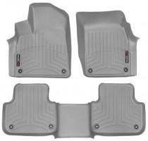 Коврики в салон для Audi Q7 '15- серые, резиновые 3D (WeatherTech)