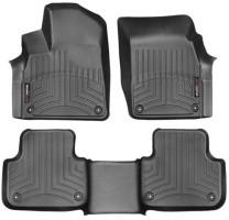Коврики в салон для Audi Q7 '15- черные, резиновые 3D (WeatherTech)