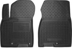 Коврики в салон передние для Kia Niro '17-  резиновые, черные (AVTO-Gumm)
