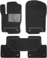 Коврики в салон для Mercedes GL/GLS X166 '12- текстильные, черные (Премиум) 8 клипс