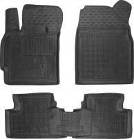 Коврики в салон для Mazda CX-7 '06-12 резиновые, черные (AVTO-Gumm)