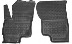 Коврики в салон передние для Mitsubishi Outlander '12- PHEV резиновые, черные (AVTO-Gumm)