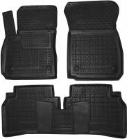 Коврики в салон для Opel Insignia '17- резиновые, черные (AVTO-Gumm)