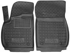 Коврики в салон передние для Opel Zafira C Tourer '12- резиновые, черные (AVTO-Gumm)