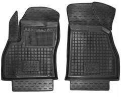 Коврики в салон передние для Fiat Fiorino Qubo '08- резиновые, черные (AVTO-Gumm)