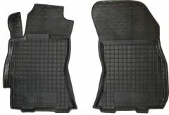 Коврики в салон передние для Subaru Outback '09-14 резиновые, черные (AVTO-Gumm)