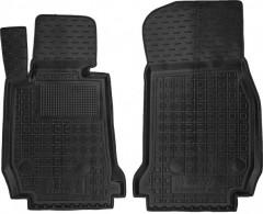 Коврики в салон передние для BMW 3 F30 '12- резиновые, черные (AVTO-Gumm)