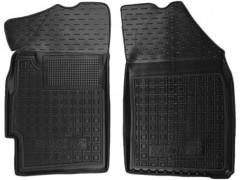 Коврики в салон передние для Ravon R2 '15- резиновые, черные (AVTO-Gumm)