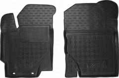 Коврики в салон передние для Toyota Yaris '15- резиновые, черные (AVTO-Gumm)