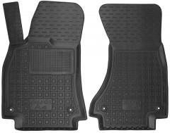 Коврики в салон передние для Audi A4 '08-15 резиновые, черные (AVTO-Gumm)