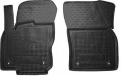 Коврики в салон передние для Volkswagen Tiguan '16- резиновые, черные (AVTO-Gumm)