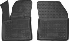 Коврики в салон передние для Peugeot 3008 '17- резиновые, черные (AVTO-Gumm)
