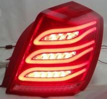 Фонари задние для Chevrolet Lacetti '03-12 седан, LED, красные, к-кт, Benz W222 (Junyan)