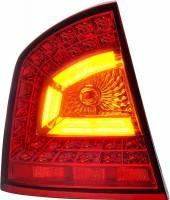 Фонари задние для Skoda Octavia A5 '05-13 лифтбэк, LED, красные, к-кт (Junyan)
