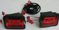 Противотуманные фары для Volkswagen Transporter T4 '90-03 LED, красные, к-кт (Junyan)