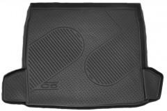 Коврик в багажник для Citroen C5 '08- универсал, полиуретановый (Novline / Element) черный