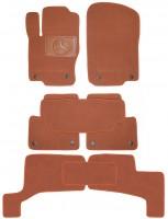 Коврики в салон для Mercedes GL/GLS X166 '12- текстильные, терракотовые (Премиум) 1+2+3 ряд, 8 клипс