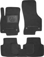 Коврики в салон для Volkswagen Passat B8 '15- текстильные, черные (Премиум) 4 клипсы