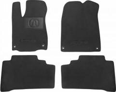 Textile-Pro Коврики в салон для Acura MDX '14- текстильные, черные (Премиум) 4 клипсы