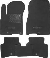 Коврики в салон для Kia Niro '17- текстильные, черные (Премиум) 5 клипс