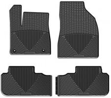 Коврики в салон для Toyota Highlander '14- резиновые, черные (Weathertech)