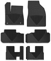Коврики в салон для Toyota Highlander '14- резиновые, черные (Weathertech) 1+2+3 ряд