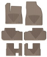 Коврики в салон для Toyota Highlander '14- резиновые, бежевые (Weathertech) 1+2+3 ряд