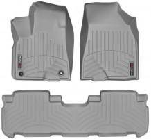 Коврики в салон для Toyota Highlander '14- резиновые, серые 3D (Weathertech)