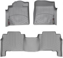 Коврики в салон для Toyota Land Cruiser 200 '07-12 резиновые, серые 3D (Weathertech)