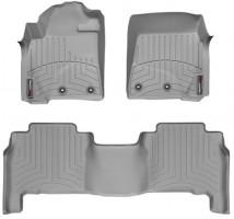 Коврики в салон для Toyota Land Cruiser 200 '13- резиновые, серые 3D (Weathertech)