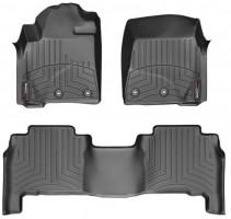 Коврики в салон для Toyota Land Cruiser 200 '13- резиновые, черные 3D (Weathertech)