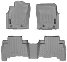 Коврики в салон для Toyota LC Prado 150 '13- резиновые, серые 3D (Weathertech)