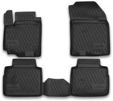 Коврики в салон для Suzuki SX4 '13- полиуретановые, черные (Novline / Element)