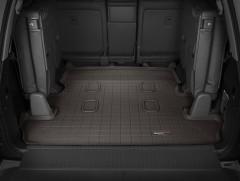 Коврик в багажник для Lexus LX 570 '08- (7 мест, длинный) резиновый, коричневый (Weathertech)