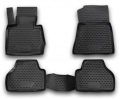 Коврики в салон для BMW X3 F25 '10-17 полиуретановые, черные (Novline)