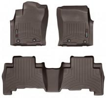 Коврики в салон для Toyota LC Prado 150 '13- резиновые, коричневые 3D (Weathertech)