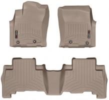 Коврики в салон для Toyota LC Prado 150 '13- резиновые, бежевые 3D (Weathertech)