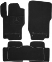 Коврики в салон для Mercedes ML-Class W164 '05-11 текстильные, черные (Премиум) 8 клипс