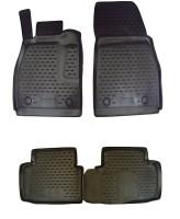 Коврики в салон для Chevrolet Malibu '12- полиуретановые, черные (Novline)