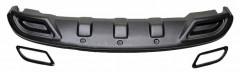 Спойлер заднего бампера для Hyundai Accent (Solaris) '11-17, под покраску (AVTM)
