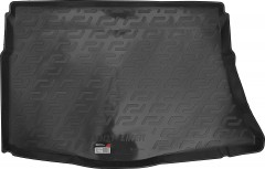 Коврик в багажник для Kia Ceed '12- хетчбэк без органайзера, резино/пластиковый (Lada Locker)