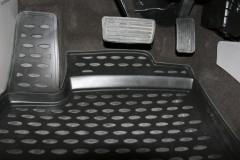 Коврики в салон для Honda Civic 4D '12-17 полиуретановые, черные (Novline / Element)