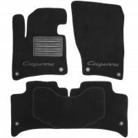 Коврики в салон для Porsche Cayenne '10-17 текстильные, черные (Премиум) 8 клипс