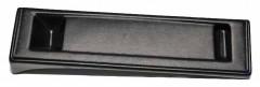 Накладка переднего бампера для для Mitsubishi Lancer X (10) '07-, под номерной знак (AVTM)