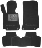 Коврики в салон для Mercedes GLC-Class X253 '15- текстильные, черные (Премиум) 4 клипсы