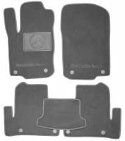 Коврики в салон для Mercedes GLE-Coupe C292 '15- текстильные, серые (Премиум) 8 клипс