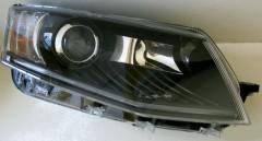 Фары передние для Skoda Octavia A7 '13-16, левая и правая, черные, c DRL (Junyan)