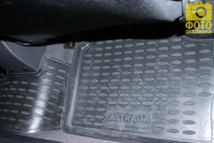 Фото 4 - Коврики в салон для Opel Astra H '04-15, хетчбек, полиуретановые, черные (Novline / Element) EXP.NLC.37.21.210