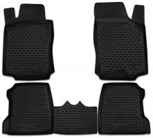 Коврики в салон для Opel Combo '01-12 полиуретановые, черные (Novline / Element)